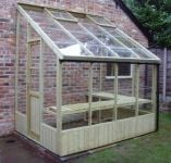 Swallow Dove 6ft 8in x 8ft 4in Lean-To Wooden Greenhouse
