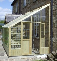 Swallow Heron 8ft 8in x 14ft 8in Lean-To Wooden Greenhouse