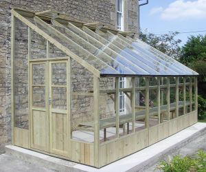 Swallow Heron 8ft 8in x 18ft 10in Lean-To Wooden Greenhouse