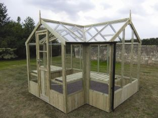 Swallow Cygnet 6ft 8in x 11ft 5in T-Shaped Wooden Greenhouse