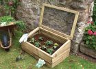 2ft 8in x 1ft 7in Traditional Single Wooden Cold Frame