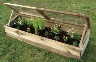 5ft5 x 1ft7 Traditional Double Wooden Cold Frame