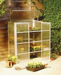 2ft 6in x 1ft 3in Polycarbonate Glazed Grow House