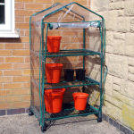 2ft 3in x 1ft 7in 3 Tier Greenhouse with Wheels