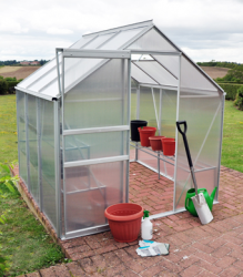 Kingfisher Premium 6ft x 6ft Aluminium Frame Greenhouse