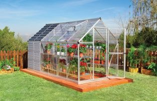 Palram Grow & Store Aluminium Frame Greenhouse 6ft x 12ft