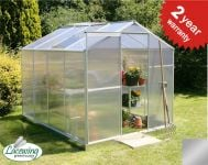Lacewing™ 6ft x 8ft Essential Silver Aluminium Frame Greenhouse with Base