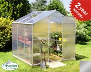 Lacewing� 6ft x 6ft Essential Silver Aluminium Frame Greenhouse with Base