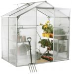 Lacewing� 6ft x 4ft Essential Silver Aluminium Frame Greenhouse
