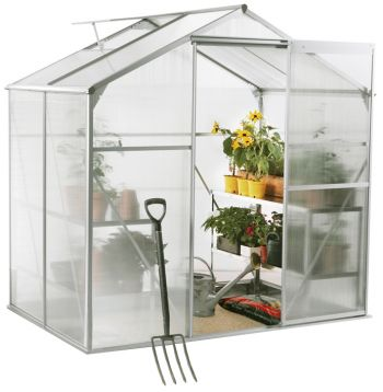 Lacewing™ 6ft x 4ft Essential Silver Aluminium Frame Greenhouse