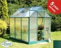 Lacewing� 6ft x 8ft Traditional Green Aluminium Frame Greenhouse With Base