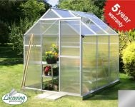Lacewing� 6ft x 8ft Traditional Silver Aluminium Frame Greenhouse