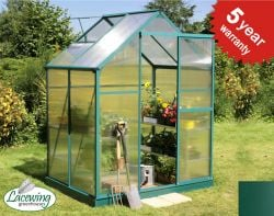 Lacewing� 6ft x 4ft Traditional Green Aluminium Frame Greenhouse