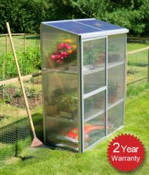 Lacewing 4ft x 2ft Silver Aluminium Frame Mini Greenhouse