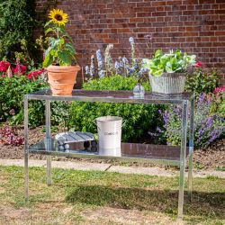 "3' 10½"" Lacewing™ Essential 2 Tier Greenhouse Galvanised Steel Staging"