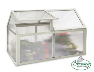 Lacewing™ 3ft3 x 1ft8 Double Lid Wooden Cold Frame in Heritage Ivory