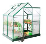 Lacewing� 6ft x 4ft Deluxe Green Aluminium Frame Greenhouse