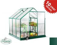 Lacewing� 6ft x 6ft Deluxe Green Aluminium Frame Greenhouse