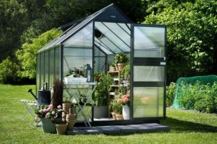 Eden Acorn Aluminium Frame Greenhouse 6ft x 10ft Anthracite Grey