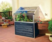 Palram Plant Inn Compact Raised Bed with Storage Compartment