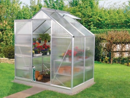 Venus 2500 Anodised Silver Greenhouse 6ft x 4ft