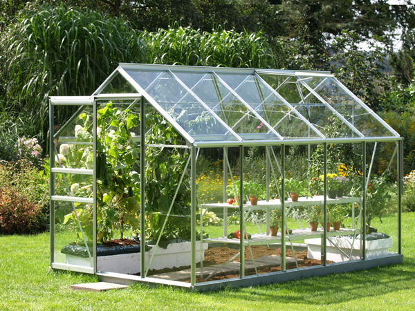 Venus 6200 Anodised Aluminium Greenhouse 6ft x 10ft