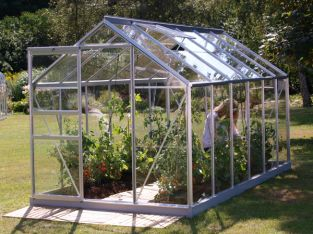 Venus 7500 Anodised Aluminium Greenhouse With Horticultural Glass 6ft x 12ft