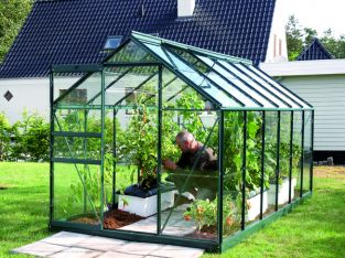Venus 6200 Green Aluminium Greenhouse With Polycarbonate 6ft x 10ft