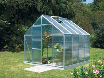 Neptune 6700 Anodised Silver Greenhouse 8ft x 8ft