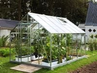 Neptune 9900 Anodised Silver Greenhouse 8ft x 12ft