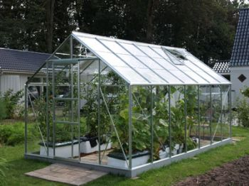 Neptune 1150 Anodised Silver Greenhouse 8ft x 14ft
