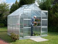 Jupiter 6700 Anodised Silver Greenhouse 8ft x 8ft