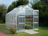 Jupiter 8300 Anodised Silver Greenhouse 8ft x 10ft