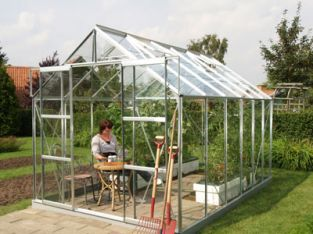 Jupiter 9900 Anodised Silver Greenhouse 8ft x 12ft