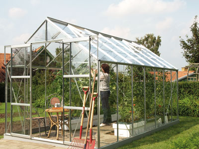Jupiter 1150 Anodised Silver Greenhouse 8ft x 14ft