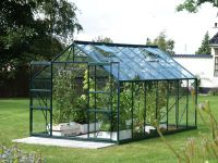 Jupiter 6700 Green Aluminium Greenhouse 8ft x 8ft