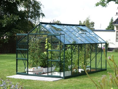 Jupiter 1150 Green Aluminium Greenhouse 8ft x 14ft