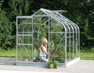 Orion 5000 Anodised Silver Greenhouse 6ft x 8ft