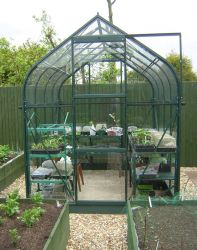 Orion 5000 Green Aluminium Greenhouse 6ft x 8ft