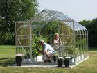 Saturn 5000 Anodised Silver Double Door Greenhouse 8ft x 6ft