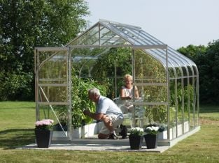 Saturn 6700 Anodised Silver Greenhouse 8ft x 8ft