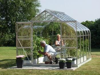 Saturn 8300 Anodised Silver Greenhouse 8ft x 10ft
