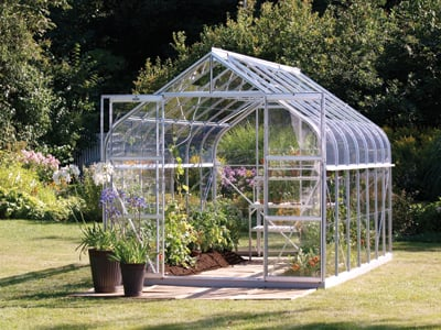 Saturn 11500 Anodised Silver Greenhouse 8ft x 14ft