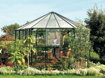 Hera 9000 Anodised Silver Greenhouse 12ft x 11ft