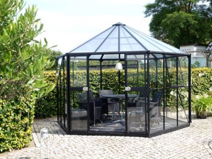 Hera 9000 Black Aluminium Greenhouse 12ft x 11ft