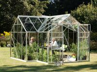Sirius 1300 Anodised Silver Orangery Greenhouse 12ft x 12ft