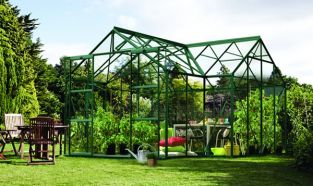 Sirius 1300 Green Aluminium Orangery Greenhouse 12ft x 12ft