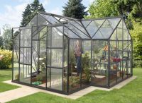 Sirius 1300 Black Aluminium Orangery Greenhouse 12ft x 12ft