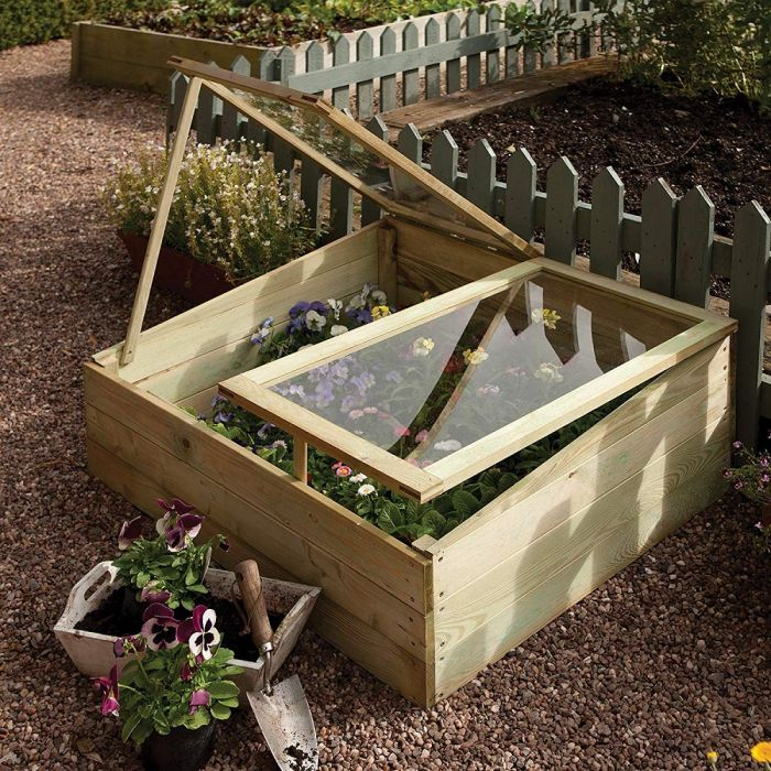 W1m (3ft 3in) Timber Double Cold Frame FSC® by Rowlinson®