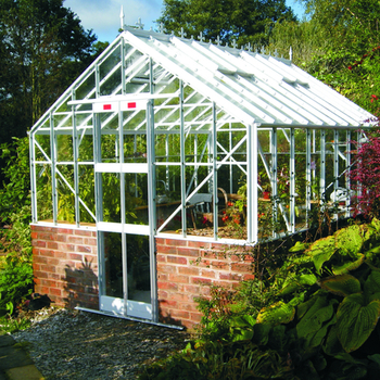 Elite Thyme Dwarf Wall Double Door 8ft x 12ft Greenhouse